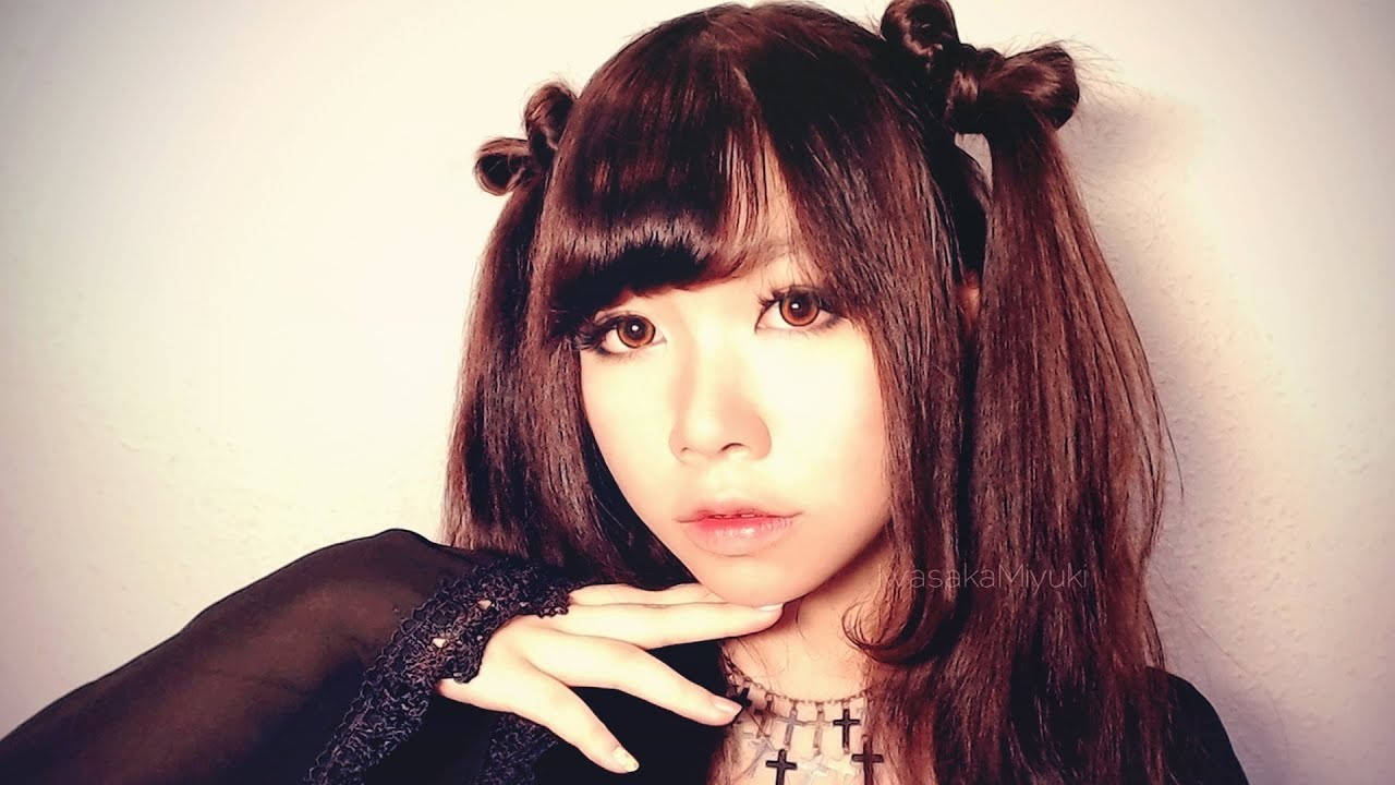 asian style hair ribbon twintails hairstyle japanese style curled 9893 | maxresdefault