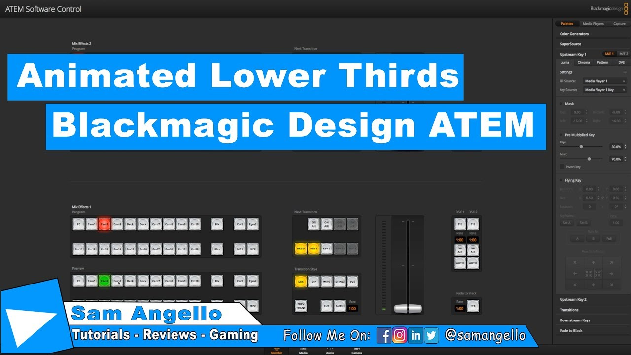 Blackmagic Design Animated Lower Third Atem Youtube