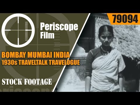 BOMBAY MUMBAI INDIA  1930s TRAVELTALK TRAVELOGUE 79094