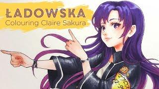 Colouring with Copics - Claire Sakura for 🌸Idols - Sakura🌸 CD cover!
