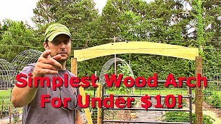 We show you how to make the easiest, simplest, nicest wood arch for above your garden gate. This arch is inexpensive and will ...
