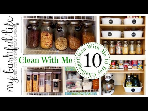 Clean With Me  The Pantry / Clean With Me 10 Day Challenge