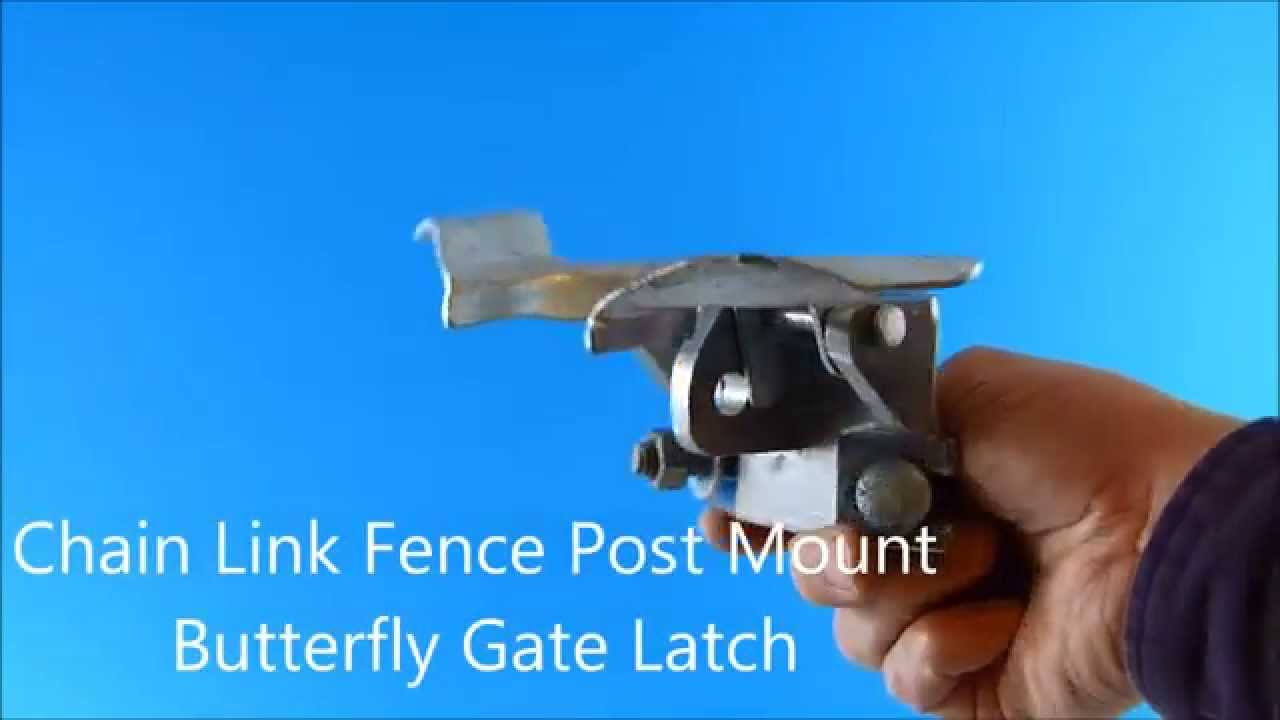 Chain Link Fence Post Mount Butterfly Gate Latch Youtube