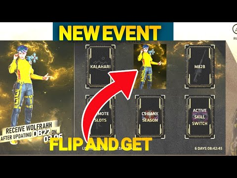 How To Get Free Wolfrahh Character || Free Fire New Flip Event Complete Get Wolfrahh Character