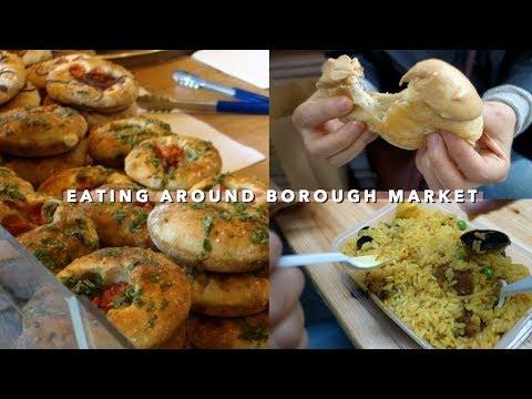 Eating Through Borough Market + London Korean Food 🤤 | Vlogust Day 21