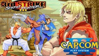 Street Fighter III: 3rd Strike (ARCADE CPS3) 1CC KEN Playthrough - SA3 Shippu Jinraikyaku