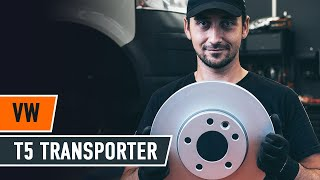 How to replace Brake rotors VW TRANSPORTER V Box (7HA, 7HH, 7EA, 7EH) Tutorial