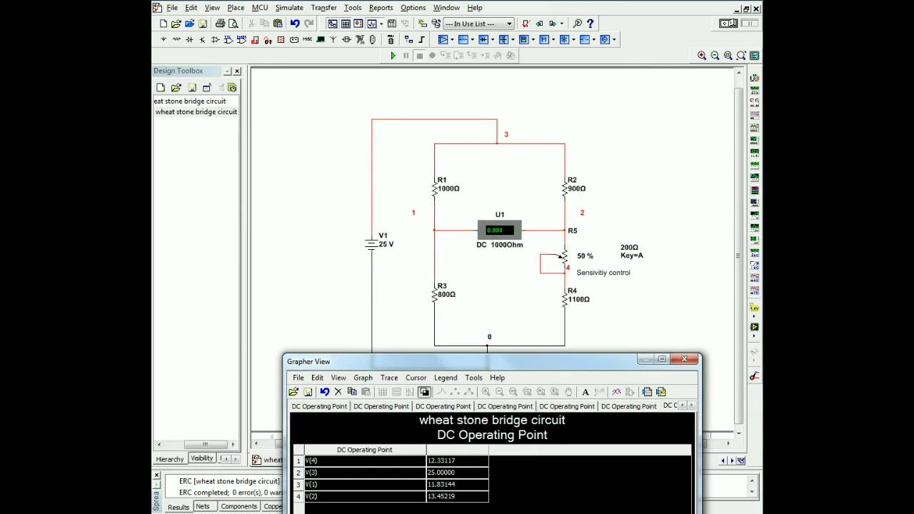 Wheatstone Bridge Circuit Simulation Using Multisim Youtube Free Software