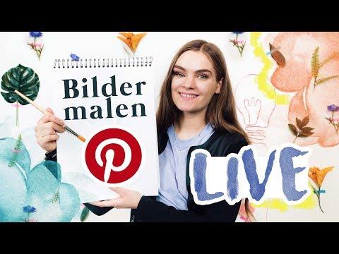 Ich male LIVE Pinterest Bilder mit euch heute um 17:00 Uhr