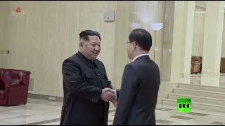 كيم جونغ أون يستقبل الوفد الكوري الجنوبي في بيونغ يانغ