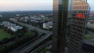 Luftaufnahmen in München: Die münchener Highlight Towers