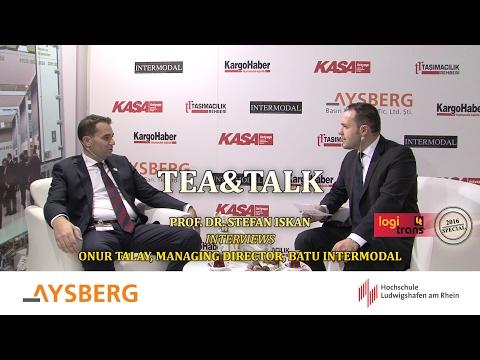 Tea & Talk logitrans 2016: Prof. Dr. Stefan Iskan interviews Onur Talay