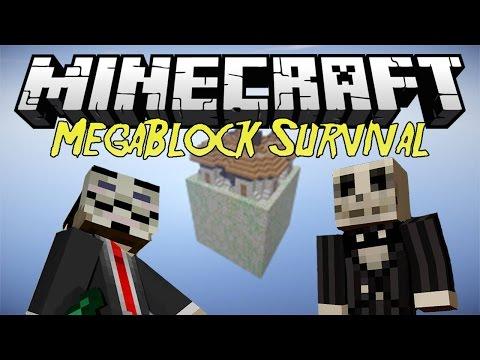 [Minecraft] Megablock survival | Episodul 1 | O harta FOARTE TARE