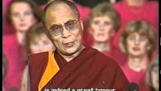 Dalai Lama Receives the Nobel Peace Prize