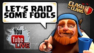 ONE GEM BOOST FTW! YOU PICK MY ARMY? TH11/TH9 Farming, Base reviews - Clash of Clans Live Stream #34