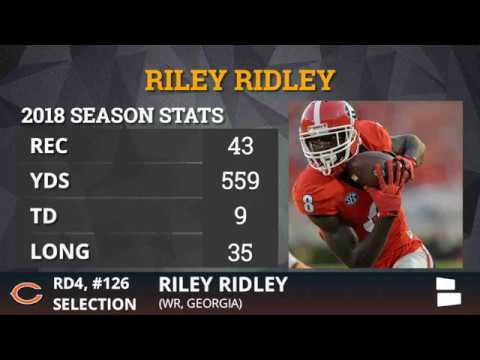 Bears draft WR Riley Ridley, Calvin's brother