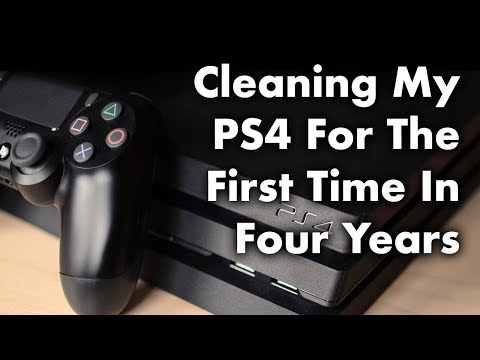 Cleaning My PS4 For The First Time In Four Years