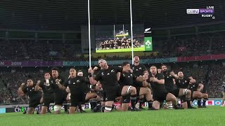 All Blacks lay down their challenge to Ireland with a Haka in the quarter-final | RWC 2019 Moments