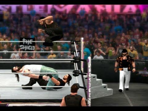wwe 2k14 the wyatt family vs the shield 6 man tag match
