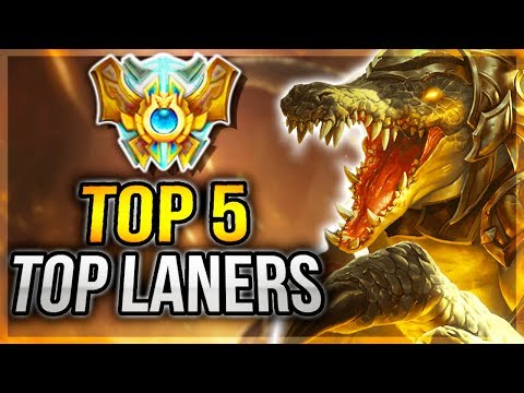 TOP 5 BEST TOP LANE CHAMPS TO HARD CARRY SOLO QUEUE WITH IN SEASON 7 (7.19) - League Of Legends