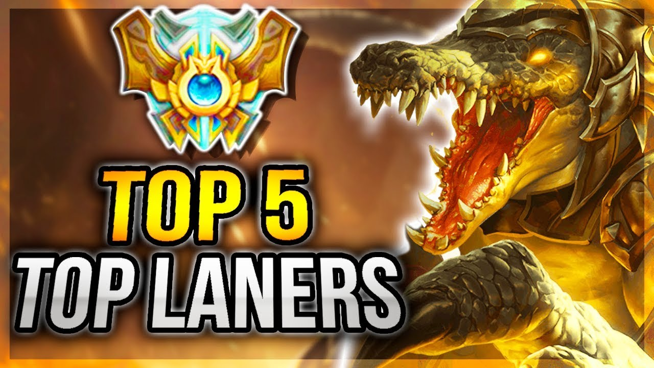 Top 5 Best Top Lane Champs To Hard Carry Solo Queue With In Season 7 7 19 League Of Legends Youtube