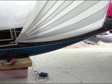 RC Sailing Genoa test settings A-class (sheeting? look at the comments)