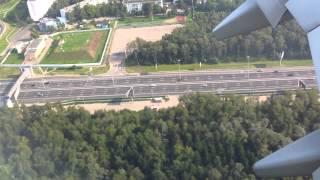 Посадка в Аэропорту Внуково (Москва) Landing Vnukovo Moscow airport Boeing 737-800 NG