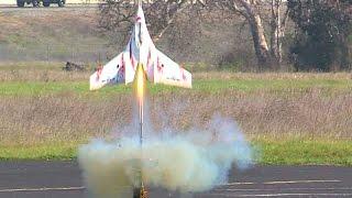 Aris HobbyKing SkyFun with a rocket motor at SCCMAS