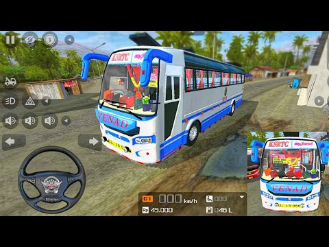 BMR New Bus Mod - BUSSID | Blue Bird BMR  | Bus Simulator Indonesia  - Android Gameplay