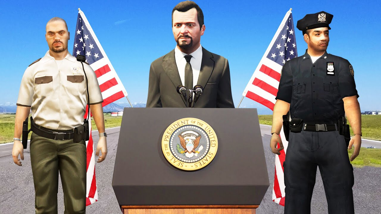 Playing As THE PRESIDENT In GTA 5! (Mods) thumbnail