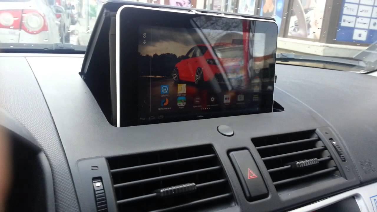 mazda 3 bk tablet navigation to dashboard youtube. Black Bedroom Furniture Sets. Home Design Ideas