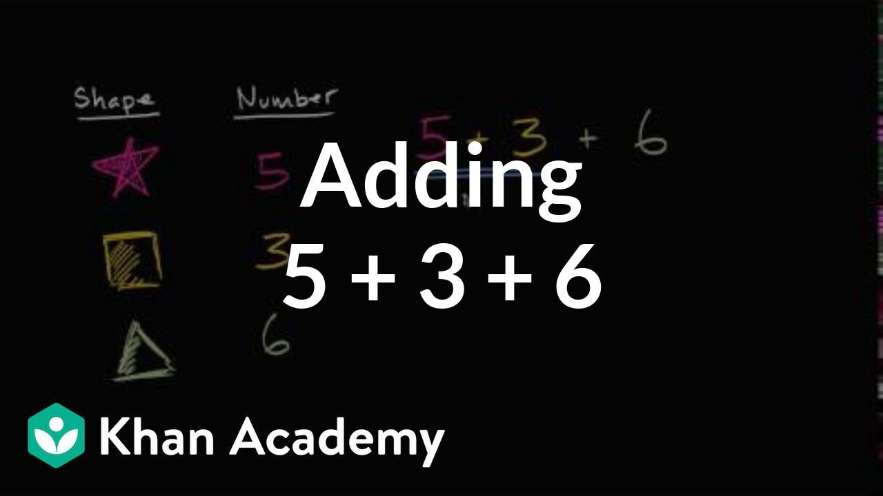 Worksheet Khan Academy Subtraction adding 5 3 6 addition and subtraction within 20 early math khan academy