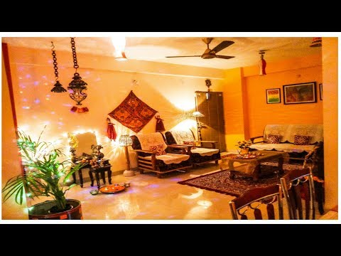 Home Tour/Living room tour/Diwali decoration of Living room, Dining area & Passage area