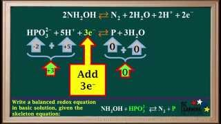 bcln redox reactions in a base part 1 chemistry
