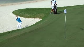 Rickie Fowler's superb bunker play at the Hero World Challenge