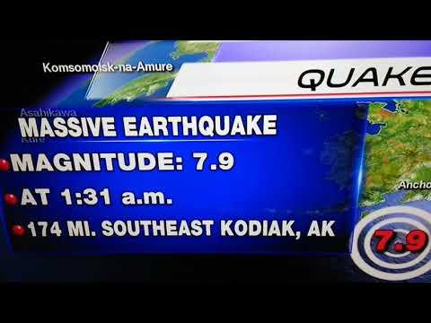 "Alaska's 7.9 Earthquake tsunami warning for Pacific Coastline ""canceled""!... 1/23/17"