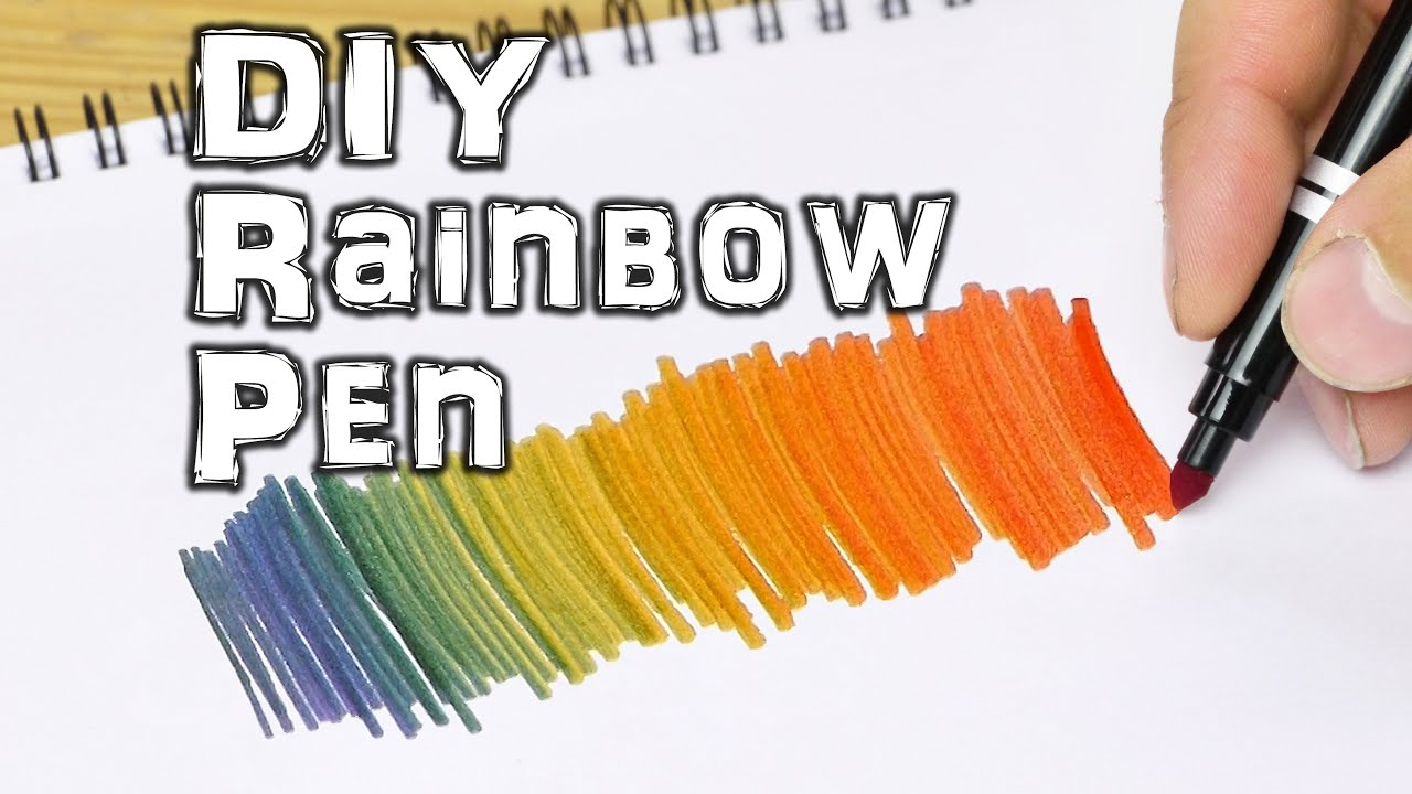 rainbow coloring pen life hacks for kids youtube