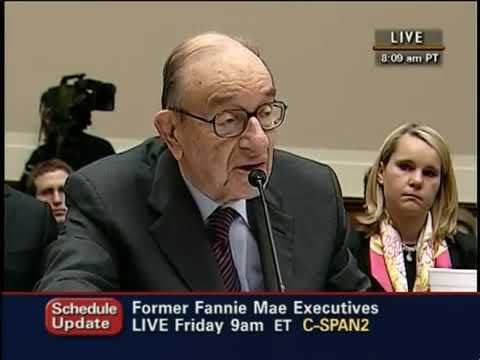 Alan Greenspan takes on Congress: Financial Crisis and the Federal Reserve