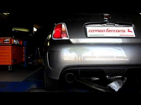 Abarth 500 valve exhaust system by Romeo Ferraris