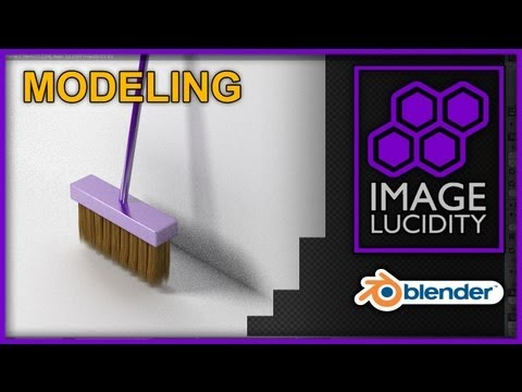 Blender 3D Modeling a Broom - How to Model a Broom in Blender Cycles with Strand Rendeing