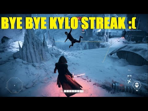 Star Wars Battlefront 2 - Kylo Killstreak RUINED By Lightsaber glitch! XD Kylo Poor Kylo! thumbnail