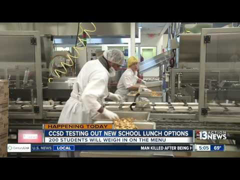 CCSD testing out new healthier lunch options