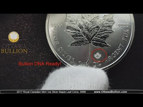 2017 Silver Maple Leaf Coin - Royal Canadian Mint Bullion DNA Dealer