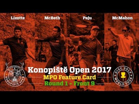 2017 Konopiště Open Feature Card Round 1 Front 9 (Lizotte, McBeth, Paju, McMahon)