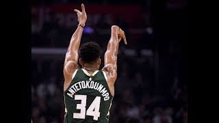 Giannis Antetokounmpo Shows His Range vs. Clippers, Hits Four 3-Pointers