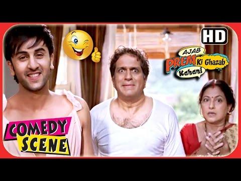 Ajab Prem Ki Ghazab Kahani - Ranbir Kapoor Wears Girl's Top - Ranbir Katrina Comedy Scene