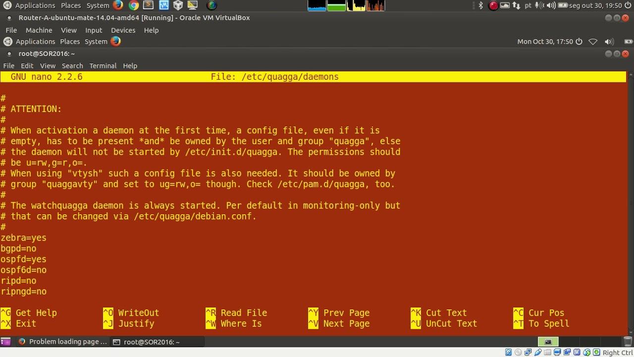 Configurando Rede Linux - Quagga, Zebra, OSPF NAT e SSH