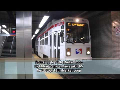 TVS-SEPTA Subways: Peak Hour At 15th-Market & City Hall Stations