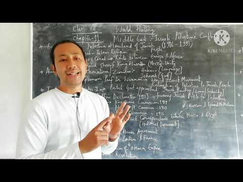 History|Class-XII|Chapter-11|Middle East : Israeli-Palestine Conflict [1916-1993][Part-1] 👉 Mr AD