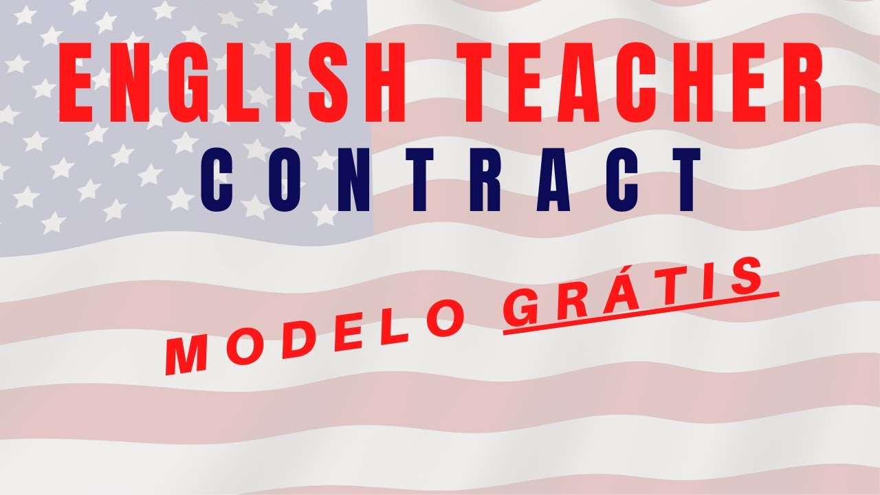 Modelo De Contrato Professor De Ingl S Particular Youtube